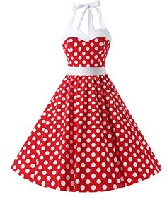 Dresstells Vintage Rockabilly Polka Dots Audrey Dress Retro Cocktail Dress White Dot L - FrenzyStyle Mode Rockabilly, Rockabilly Fashion, Retro Fashion, Vintage Fashion, Rockabilly Outfits, Prom Dresses For Sale, Cute Dresses, Vintage Dresses, Robe Swing