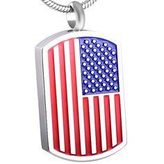 US Navy Veteran Cremation American Patriotic Ashes Necklace Urn Jewelry Keepsake