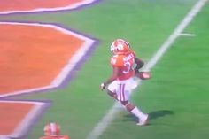 Clemson's Ray-Ray McCloud Drops Ball Before Crossing Goal Line