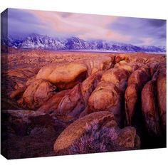 Dean Uhlinger Sierra Dawn Storm Light Gallery-Wrapped Canvas, Size: 24 x 32, Purple