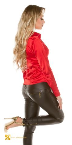 Leather Tights, Tight Leather Pants, Leather Pants Outfit, Leather Dresses, Sexy Leggings Outfit, Shiny Leggings, Hot Outfits, Fashion Outfits, Satin Bluse