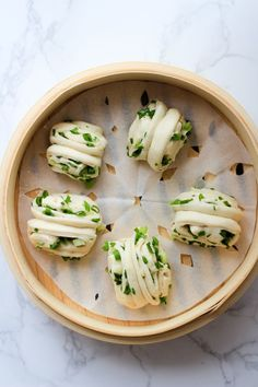 Gorgeous Chinese Steamed Scallion Buns. These are surprisingly easy to make and shape. Check out the excellent tutorial featured on China Sichuan Food.