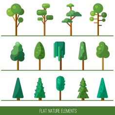 Set of nature elements on Behance