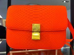 orange celine bag.