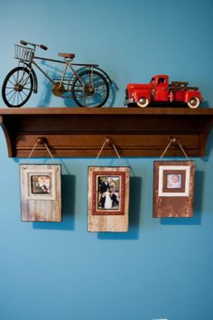 Vintage Boys Room Ideas, Red Wagon, Tricycle Decor