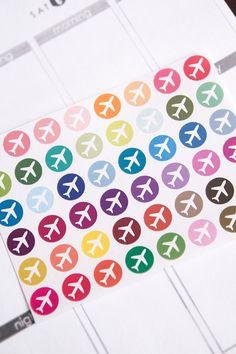 Travel sticker, airplane sticker, suitcase stickers, life planner stickers, scrapbook reminder, calendar stickers, blog sticker
