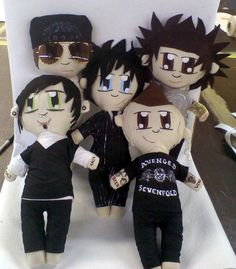 Avenged Sevenfold Inspired Plush Dolls  Entire by PrincessPlague, $120.00