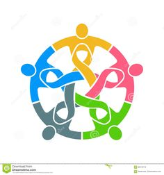 People Pink Ribbon Teamwork Logo