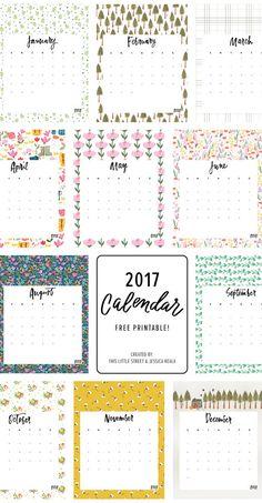 2017 Printable Calendar + Tea Towel / Free download!