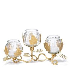 "Pumpkin tealight centerpiece  uses 3 LED tea lights ( not included) ; iron /glass , wipe clean , 12.5"" x5.75"" x 3.5"" order number 631-232 $19.99"