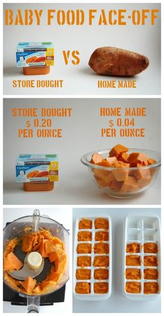 Homemade Baby Food | www.wineandglue.com | A break down of the cost benefits// motivation to make own baby food.