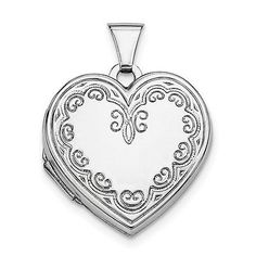 Other Ethnic Regional Jewelry 288: Sterling Silver Heart Locket-Jqls43 -> BUY IT NOW ONLY: $49.67 on eBay!