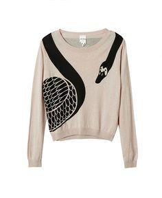 MONKI swan knit