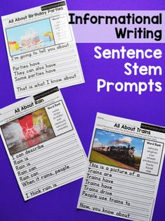 Teaching first graders to write an informative paragraph can be a challenge. These writing prompts feature familiar topics that first graders will already be familiar with, no research required. There are three differentiated levels of prompts included. Writing Topics, Writing Skills, Writing Activities, Writing Prompts, Second Grade Teacher, First Grade, Informational Writing, Opinion Writing, Paragraph