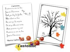 """L'automne"" en compagnie de Maurice Carême … – PauletteTrottinette Maurice Careme, Math, Kids, Poetry, French, Snacks, Elementary Schools, Nursery School, Nursery Rhymes"