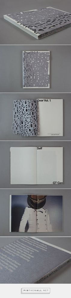 """DEAR Vol 1: Lost & Found 2015. I simply adore this double, die-cut cover by DO NOT DESIGN out of Singapore. The cover reveals """"a noisy mass of text created through the removal of word spaces, die-cuts and overlaps presents itself as a chunk of letterforms, albeit so familiar to us, in a disorientating, and uncomfortable fashion.""""  #IPDRevealIt  Creative Director Yanda, Design Lim Yu Shan, Curator Yanda, Editor Shena Chan , and Printer AlsOdOminie. First seen on FPO"""