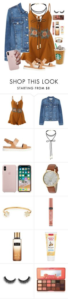 """•not my best set but...•"" by kaitelinlaura ❤ liked on Polyvore featuring MANGO, ALDO, Miss Selfridge, Kate Spade, Lizzie Fortunato, Victoria's Secret, Burt's Bees and Too Faced Cosmetics"