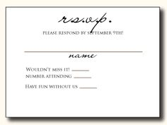 Ways To Word Your RSVP Card Pinterest Rsvp Wedding and Weddings