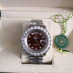 5d9f40bac80 Relógio Rolex Oyster Perpetual Datejust – 16233 – Prateado & Vermelho com  Strass – Réplica Premium