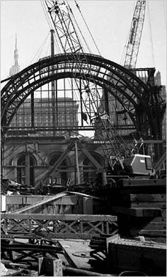 The end of Penn Station 1963.   Demolished to make room for the new Madison Square Garden.  NEW YORK CITY