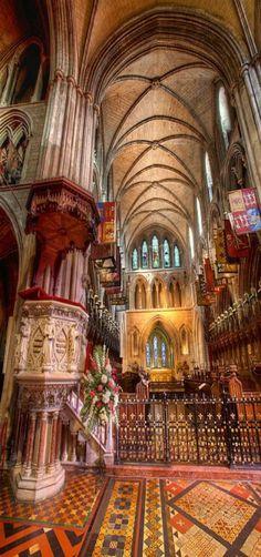 Saint Patrick Cathedral- Dublin, Ireland Ireland Vacation, Ireland Travel, Architecture Sacrée, Cathedral Architecture, St Patricks Cathedral Dublin, Voyage Dublin, Irish Eyes Are Smiling, Cathedral Church, Chapelle