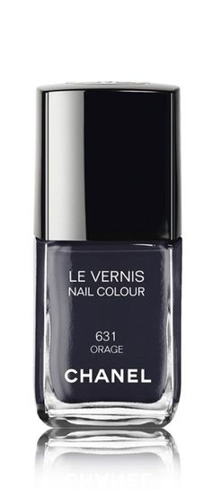 Get that dark dramatic nail look with Chanel nail color.