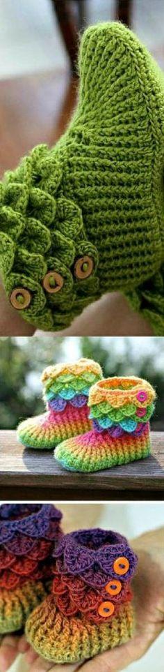 DIY Crochet Baby Boots