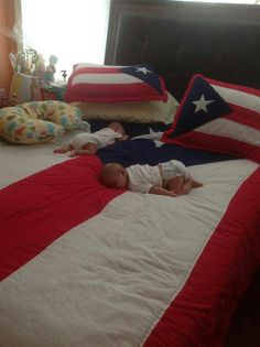 Puerto Rican bed set. Now THAT'S hot!!!I don't know what's hotter the bed set or the babies.  The babies sure are enjoying the bed set. God Bless them...