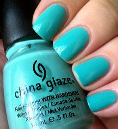 China Glaze For Audrey nails Sky Blue Nails, Hot Pink Nails, China Nails, China Glaze Nail Polish, Bella Nails, Nail Manicure, Nail Polishes, Mani Pedi, Colorful Nail Designs