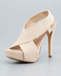 Diane von Furstenberg Zia II Crisscross Sandal, Nude On sale: $126