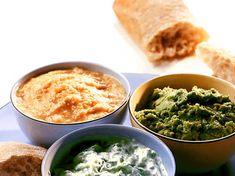 Tre goda röror Tzatziki, Tahini, Palak Paneer, Guacamole, Tapas, Ethnic Recipes, Pesto Recept, Food, Corner
