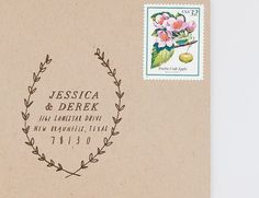 Woodland Custom Address Stamp by TheCreativeParasol on Etsy, $85.00