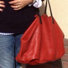 Orange leather shopper - Zara by Linda Personal Taste, Orange Leather, My Bags, Bucket Bag, October, Zara, Style, Fashion, Swag