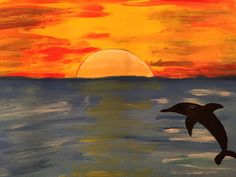 Dolphin in the Horizon for Magnet Art.