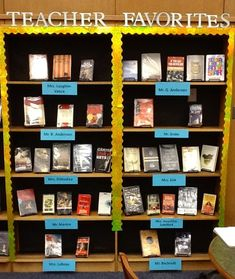 I LOVE this idea for school libraries. It's so important for kids to see that teachers are reading for pleasure!