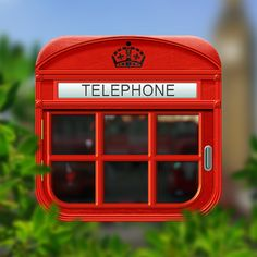 Telephone booth icon design by Lidiya Bogdanovich. - Best Mobile Designers In The World | Scoutzie