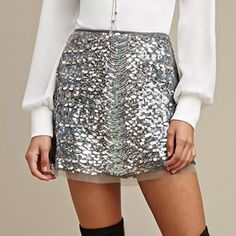 Raga Sequined Mini Skirt Forever 21 Mini Skirt