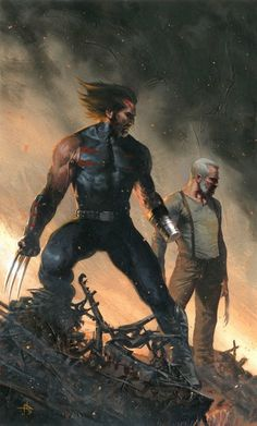 Wolverine old man Logan and Weapon X Age of Apocalypse by Gabriele Dell'Otto