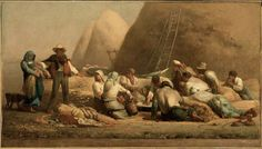 """Harvesters Resting (Ruth & Boaz)"" by Jean Francois Millet"