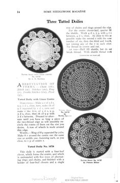 Three Tatted Doilies