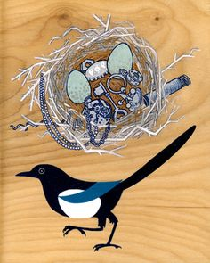 Thumbtack Press - Magpie Nest. Use as tattoo inspiration