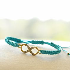Infinity in Teal – LucaLove Bracelets
