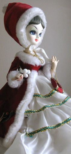 Vintage Christmas Bradley Doll. This is the exact one I had. I adored her little purse.