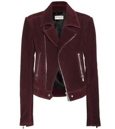 mytheresa.com - Suede biker jacket - Luxury Fashion for Women / Designer clothing, shoes, bags