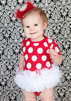 WITH MINNIE MOUSE EARS!! Red and White Polka Dot Tutu Onesie-Red and White Polka Dot Tutu Onesie,luxury red chiffon tutu,unique baby gift,short sleeve onesie,long sleeve onesie