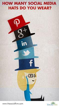 How many social media hats do you wear?