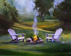 come on baby, light my fire, painting by artist Kimberly Applegate