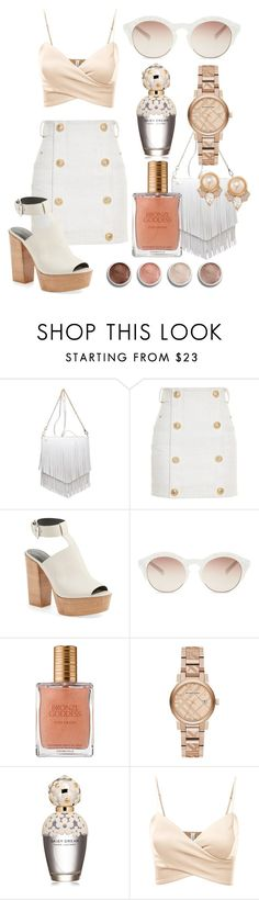"""Без названия #273"" by ronny22 ❤ liked on Polyvore featuring Patchington, Balmain, Rebecca Minkoff, self-portrait, Estée Lauder, Burberry, Terre Mère, Marc Jacobs, J.TOMSON and Carolee"