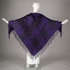 1840-60, Mourning Shawl, American, silk, The Metropolitan Museum of Art