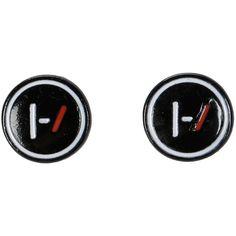 Hot Topic Twenty One Pilots Logo Stud Earrings ($5.20) ❤ liked on Polyvore featuring jewelry, earrings, accessories, twenty one pilots, multi, 20s earrings, 1920s jewelry, 1920s style jewelry, logo jewelry and stud earrings